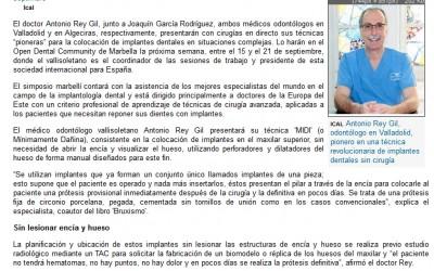 La presencia del Doctor Rey Gil en el Congreso de Marbella, en la prensa